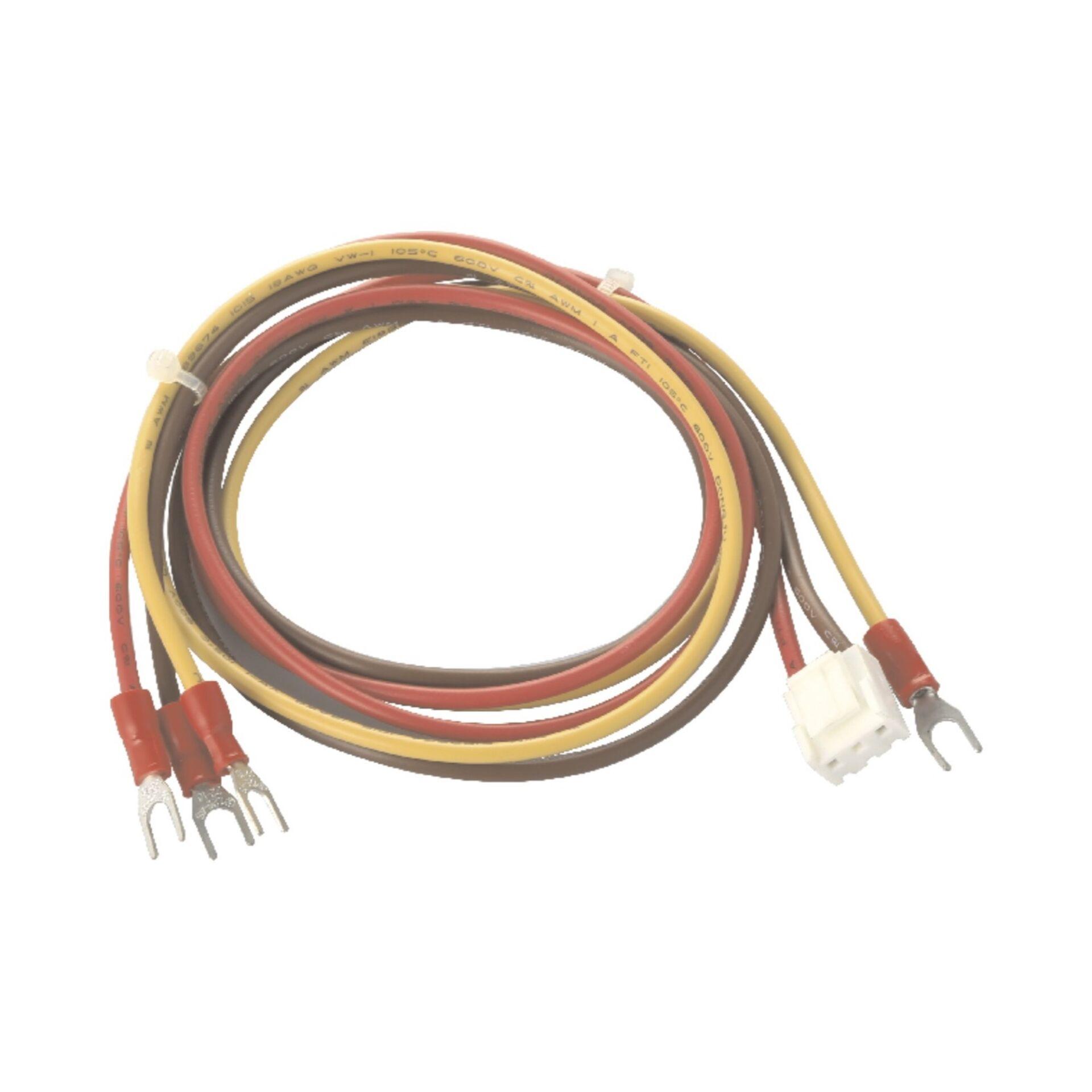 UL1015 18AWG 棕紅(黃綠)/單邊壓VH-3Y膠殼/含頭壓線/棕紅接膠殼,其它接Y型冷壓端子1.25-4S