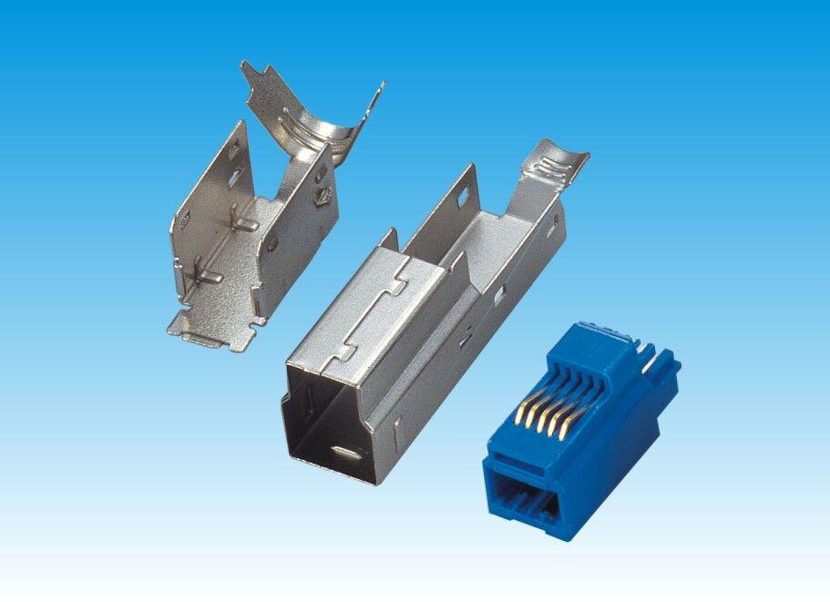 USB 3.0 B/F 焊线式 蓝色