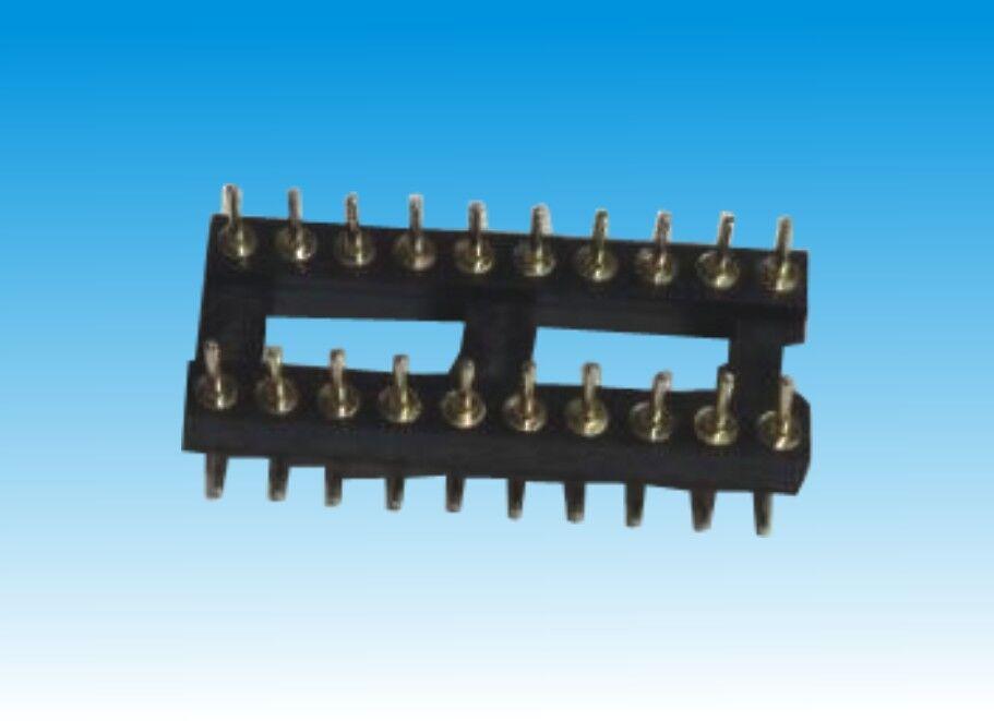 2.54X3.0双头针IC座-6P~40P/SMT/宽15.24/L=10.0mm/PPS料